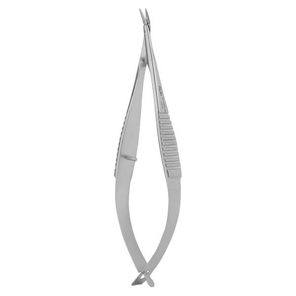 VANNAS Spring Scissors (Triangular)-S/S Angled/6.3*1.35mm/8.5cm